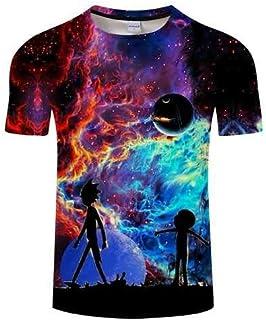4cc8ac25e1df2 KYKU Rick et Morty Tshirt Hommes Femmes T-Shirts 3D Tees à Manches Courtes T