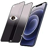 【覗き見防止/2枚入り】 iPhone12/iPhone12 Pro ガラスフィルム 覗き見防止 アイホン12 Pro/アイホン12 液晶保護フィルム のぞき見防止 【全面保護/高透過率/9H/気泡ゼロ/貼り付け簡単】