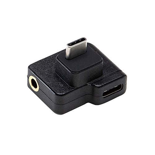 Mumuj Adapter Für DJI OSMO Action Zubehör, Splitter Dual USB-C auf 3,5 mm Adapter und Ladeadapter Mikrofonadapter Kompatibel mit DJI Osmo Action 4K-Kamera