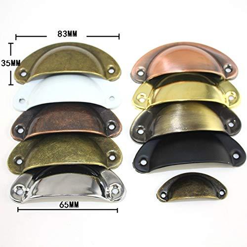 LZWOZ Retro Metal Keuken ladekast deurkruk knoppen van meubels Handware Kast Antique Brass Shell handgrepen (Color : Green Bronze)