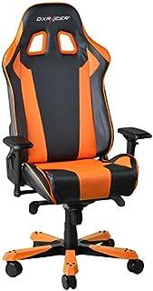 DXRacer OH/KS06/NO Silla para Videojuegos PC Gaming Chair Padded Seat - Sillas para Videojuegos (PC Gaming Chair, 136 kg, Padded Seat, Padded backrest, Aluminium, Black,Orange)