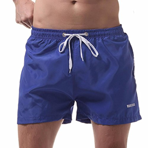 Vicbovo Mens Quick Dry Swim Trunk Swimming Shorts Beach Shorts Swimsuit Bathing Suit Watershort (Blue, XL)