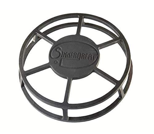 Simmergreat - Batería de cocina de hierro fundido, difusor de calor para estufa, control de temperatura, protección parcial de la llama