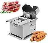 Máquina manual de anudado de salchichas de 50 mm, máquina de atar salchichas de acero inoxidable para uso doméstico comercial 50 piezas/minuto