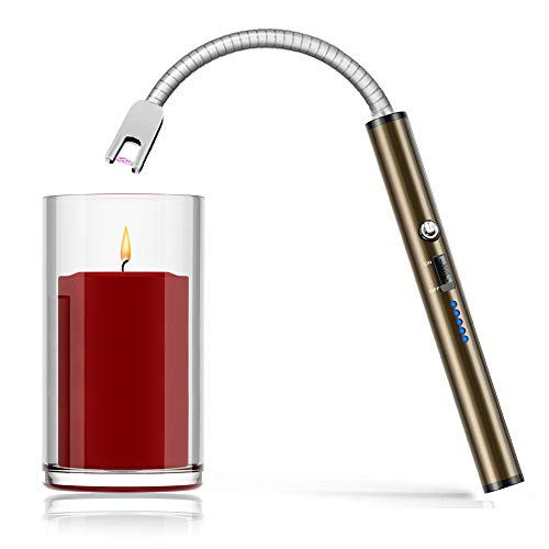 Boncas Flexible Arc Lighter USB Candle Lighter Plasma Lighter Rechargeable Windproof Lighter Long...