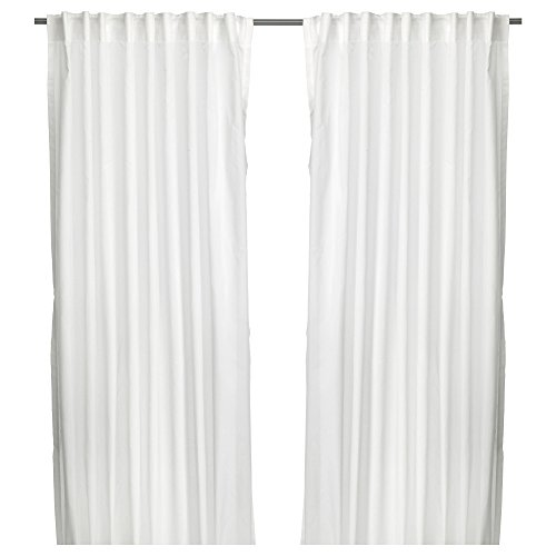Ikea Thin Vivan Curtains L: 98 ½ x W: 57 (2 Pairs, White)