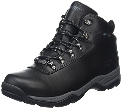Hi-Tec Eurotrek III Waterproof, Botas de Senderismo para Hombre, Negro (Black), 44 EU