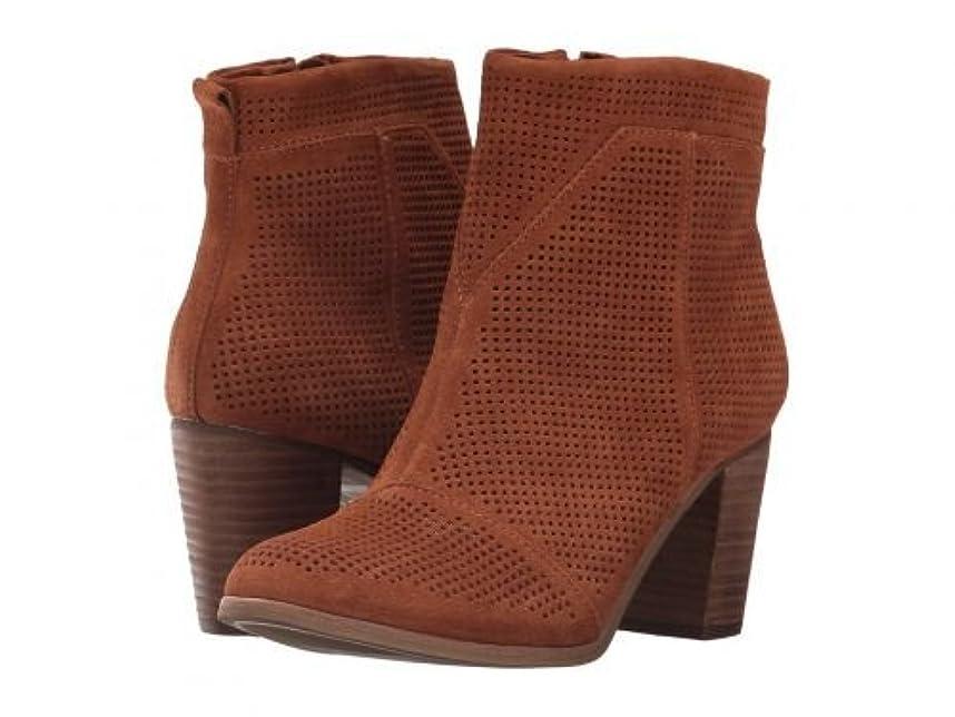 侵入炎上全くTOMS(トムス) レディース 女性用 シューズ 靴 ブーツ アンクルブーツ ショート Lunata Bootie - Cinnamon Suede Perforated 11 B - Medium [並行輸入品]