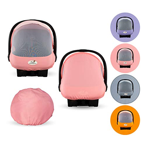 Summer Cozy Cover Sun & Bug Cover (Pink Grapefruit) - The Industry Leading Infant Carrier Cover Trusted by Over 2 Million Moms Worldwide for Protecting Your Baby from Mosquitos, Insects & The Sun