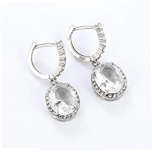 Heall Cuelga los Pendientes Pendientes Mujer Retro del Rhinestone Mujer Gemston Gota para el oído de la Muchacha de la joyería de Plata joyería de fantasía