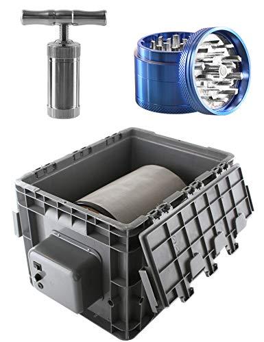Heisenberg Máquina de Polen eléctrica 9 litros Extractor de Polen de Centrifugado...