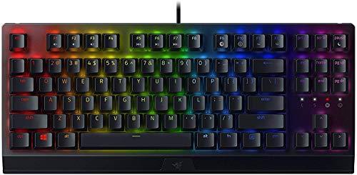 Razer BlackWidow V3 Tenkeyless - Teclado mecánico para juegos, Teclado Gaming Compacto con interruptores mecánicos, iluminación cromática RGB, gestión de cables, Teclado US