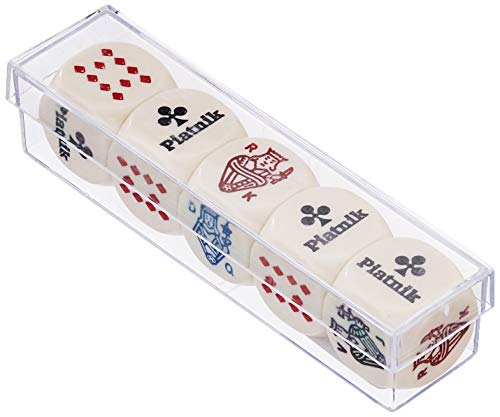 Piatnik - dados de póker 22 mm (5 piezas)
