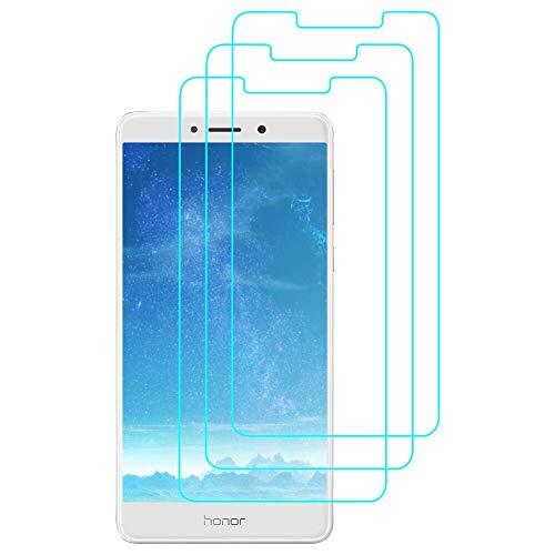 J&D Compatibile per 3-Pack Huawei Honor 6X Pellicola Protettiva, [Vetro Temperato] [Non Piena Copertura] HD Chiaro Balistico Vetro Protezione Schermo per Huawei Honor 6X