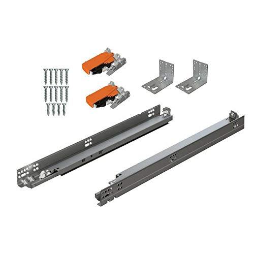 BLUM Tandem Plus BLUMOTION Drawer Slides Complete Pair, with Runners 563H, Locking Devices, Rear Mounting Brackets and Screws (for face Frame or Frameless Application) 18 Inch