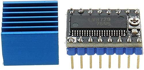 JJDSN 3D Printer Parts, Stepper Motor Driver Ultra-Silent 4-Layer Substrate MKS-LV8729 Support 6V-36V with Heatsink for 3D Printer