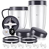 19-Piece NutriBullet Replacement Parts Cup and Blade Set Compatible with NutriBullet 600W/900W Series Blenders