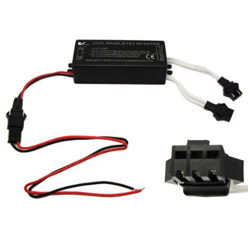 iJDMTOY Replacement Dual-Connector CCFL Inverters Compatible With BMW Mazda Lexus Infiniti CCFL Halo Angel Eyes Kit