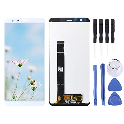 MaYing New Digitalizzatore Schermo LCD Completo for ASUS Zenfone Max Plus (M1) X018DC X018D ZB570TL Replacment Parts Kits (Color : White)