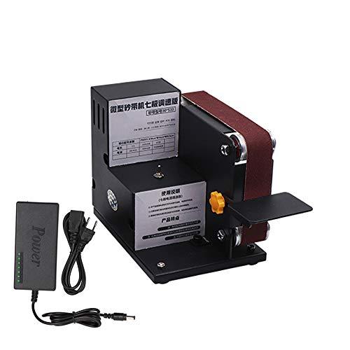 Baugger - Micro Mini Lijadora de banda eléctrica Máquina de pulir bricolaje...