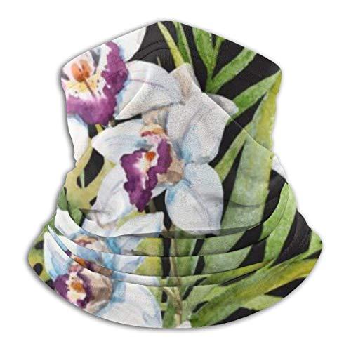 Lawenp Cubierta facial antipolvo Acuarela Patrón tropical Oreja con diademas Polainas de punto para el cuello para hombres y mujeres