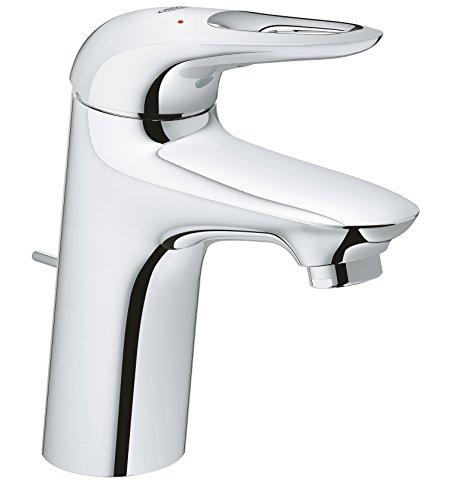 GROHE Eurostyle Badarmaturen - Einhand-Waschtischbatterie (DN 15, S-Size, Einlochmontage) chrom,33558003