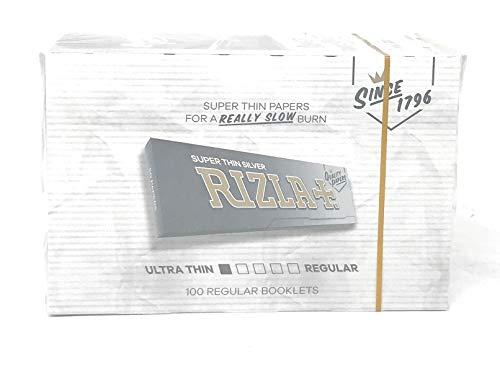 Rizla Cartine Corte Argento - 100 Pezzi