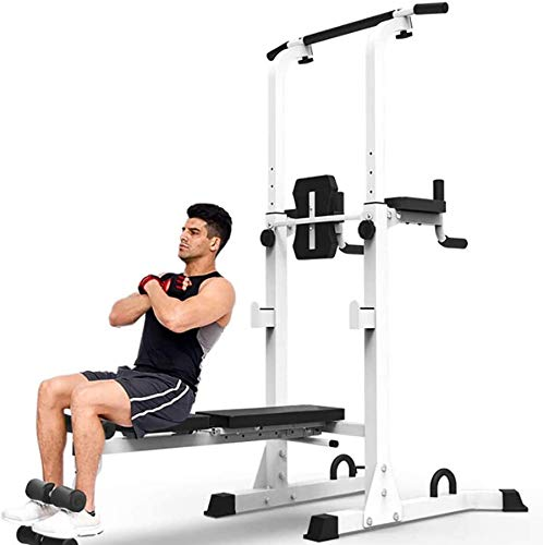 Wghz Banco de Peso Multifuncional Peso Ajustable Hogar Plegable Press Squat Rack Barbell Set Estación de Entrenamiento de Entrenamiento Multifuncional