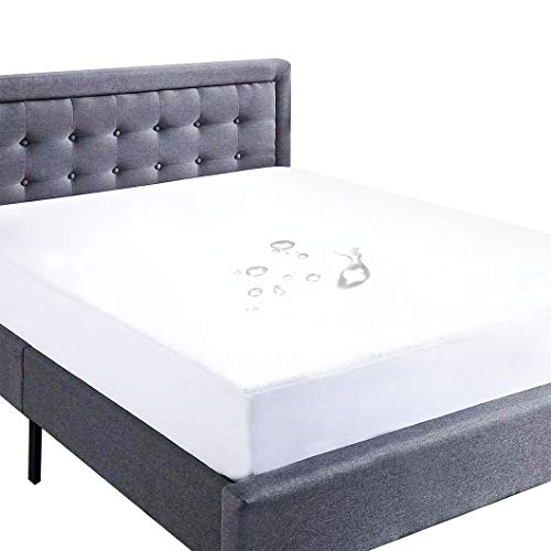 Queen Size Mattress Protector, Waterproof Mattress Cover with 1 Small Protector Pad - Premium Hypoallergenic & Vinyl Free
