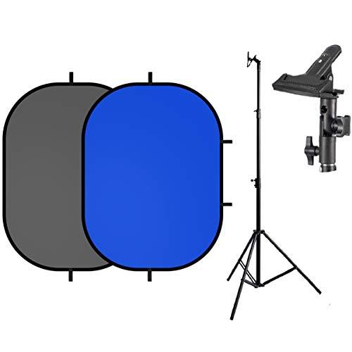 Selens Fondo de Pantalla Gris Azul Croma 1,5x2M Plegable + 2,6M Soporte...