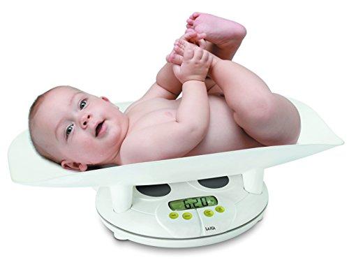 Báscula para pesar bebés. Plataforma que se puede quitar para pesar al niño cuando es mayor