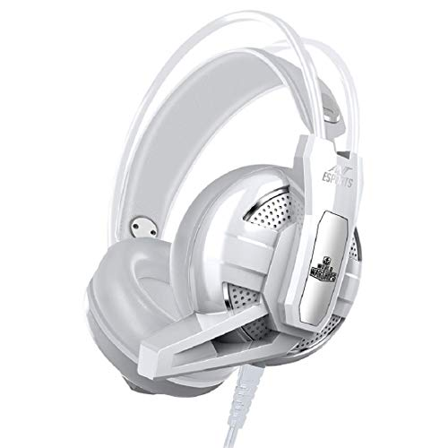 Ant Esports H520W World of Warships Edition Wired Gaming Headset for PC / PS4 / Xbox One/Nintendo Switch/Computer and Mobile - White