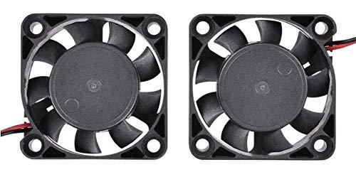 ML 3D Drucker Zubehör 2x Lüfter/Ventilator/Kühler für 3D-Drucker 40x40x10 12V 0.1A sehr leise und leistungsstark (1,2W)