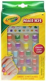 Crayola 24 Piece Press on Nails Cosmetics Set