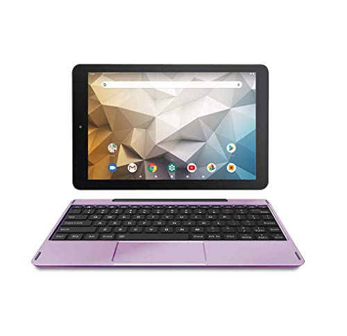 """RCA Newest Best Performance Tablet Quad-Core 2GB RAM 32GB Storage IPS HD Touchscreen WiFi Bluetooth with Detachable Keyboard Android 9 Pie (10"""", Lavender)"""