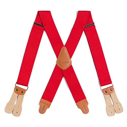 Carhartt Men's Utility Suspender, Dungaree Red