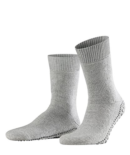FALKE Herren Stoppersocken Homepads - Baumwoll-/Merinowollmischung, 1 Paar, Grau (Light Grey 3400), Größe: 43-46