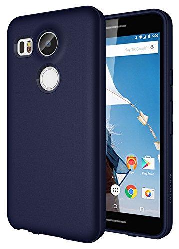 Diztronic Pieno Matte Slim-Fit Flessibile Custodia TPU Revisione 2 per LG Nexus 5X, Blu Navi