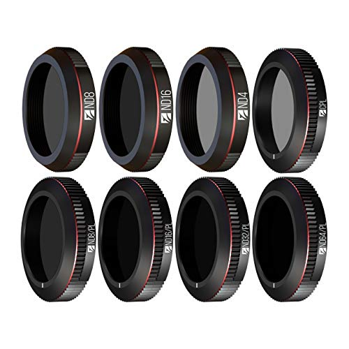 Freewell All Day – 4K Series – 8Pack ND4, ND8, ND16, CPL, ND8/PL, ND16/PL, ND32/PL, ND64/PL Camera Lens Filters Compatible with Mavic 2 Zoom/Mavic 2 Enterprise Drone