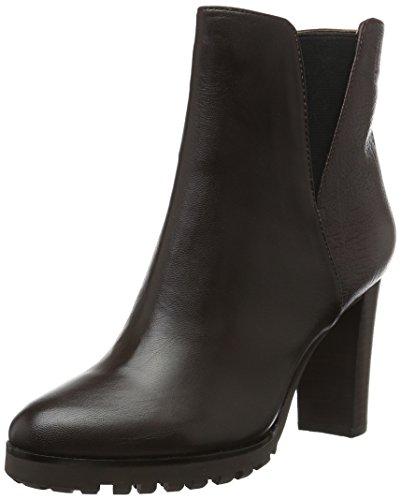 Belmondo - Botas de cuero para mujer, color negro, talla 36