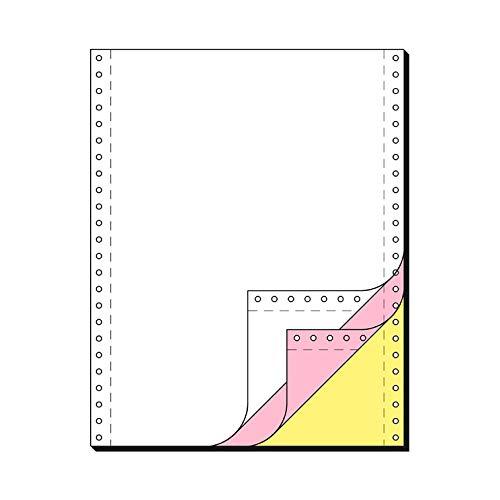 SCHÄFER SHOP Endlospapier 3fach – A4 hoch, blanko Computer Papier LP SD 54/53/55 g/qm - weiß, rosa, gelb Kopien - 600 Blatt