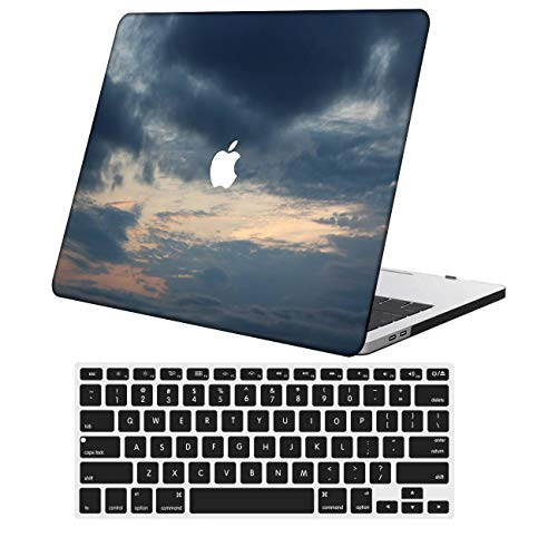 NKDCase Case for MacBook Pro 16 Case Model A2141 Cut Out Design,Plastic Ultra Slim Light Hard Case Keyboard Cover Compatible MacBook Pro 16 inch with Touch Bar/Touch ID,Sky Series 0293
