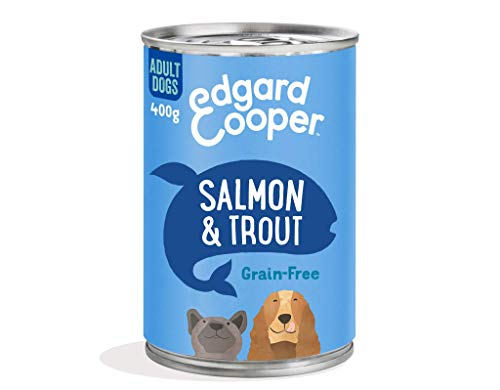 Edgard & Cooper Natural Wet Adult Dog Food - 6 x 400g - Salmon & Trout - Grain Free, Protein & Hypoallergenic
