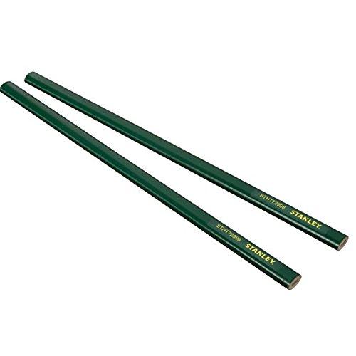 Stanley STHT0-72998 Lápiz albañil de 30 cm 2 Piezas Green Card Cuerpo, Multicolor