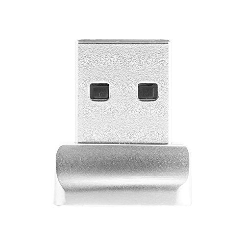 ABEDOE Pequeño Lector de Huellas Digitales USB para Windows 10 32/64 bits, Escáner Biométrico de Huellas Dactilares con Clave de Seguridad para Acceso Táctil Instantáneo Acceso