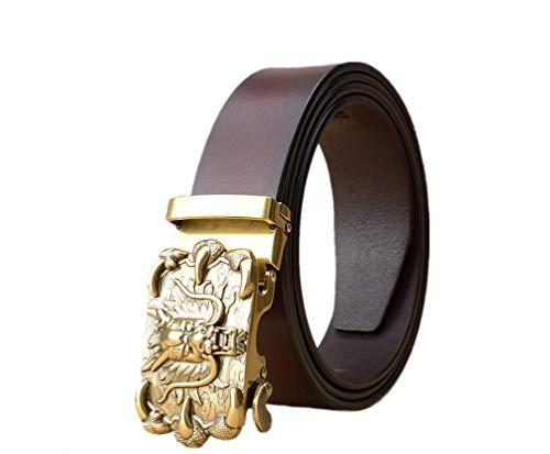 WRH Belts Dragon Head Cinturón De Hebilla Automática Hombres Cinturones D...
