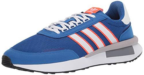 adidas Originals Men's Retroset Sneaker, Blue/Cloud White/Solar Red, 7