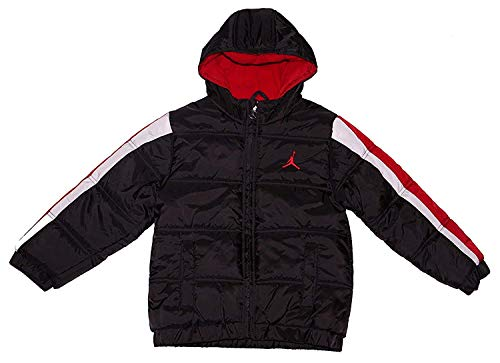 Nike Air Jordan Boys Puffer Bubble Jacket Black/Red 6