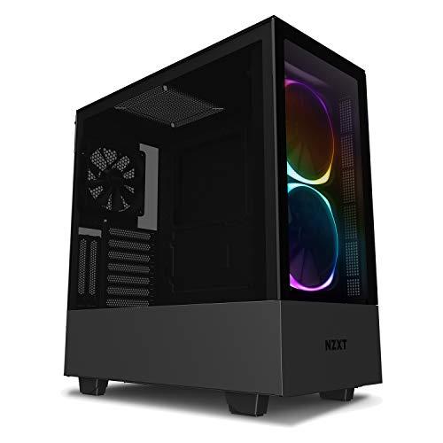NZXT H510 Elite 前面+側面ガラスパネル RGB LED発光&ファン制御機能搭載 [ Black & Black ] CA-H510E-B1