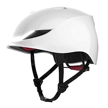 Lumos Street Smart Helmet  Jet White    Urban   Skateboard Scooter Bike Accessories   Adult  Men Women   Front and Rear LED Lights   Turn Signals   Brake Lights   Bluetooth Connected